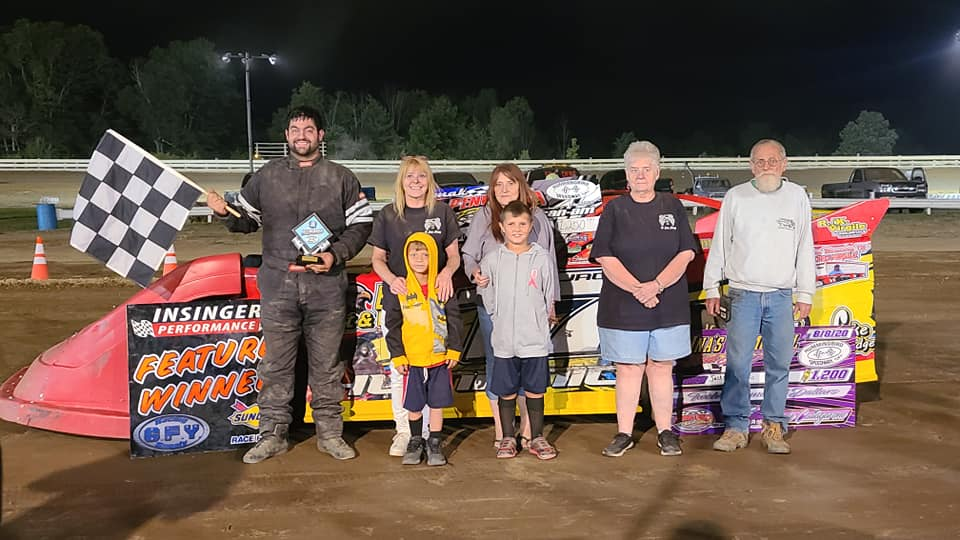 Jackson Humanic was the big winner at Hummingbird Speedway this past Satruday (Track photo)