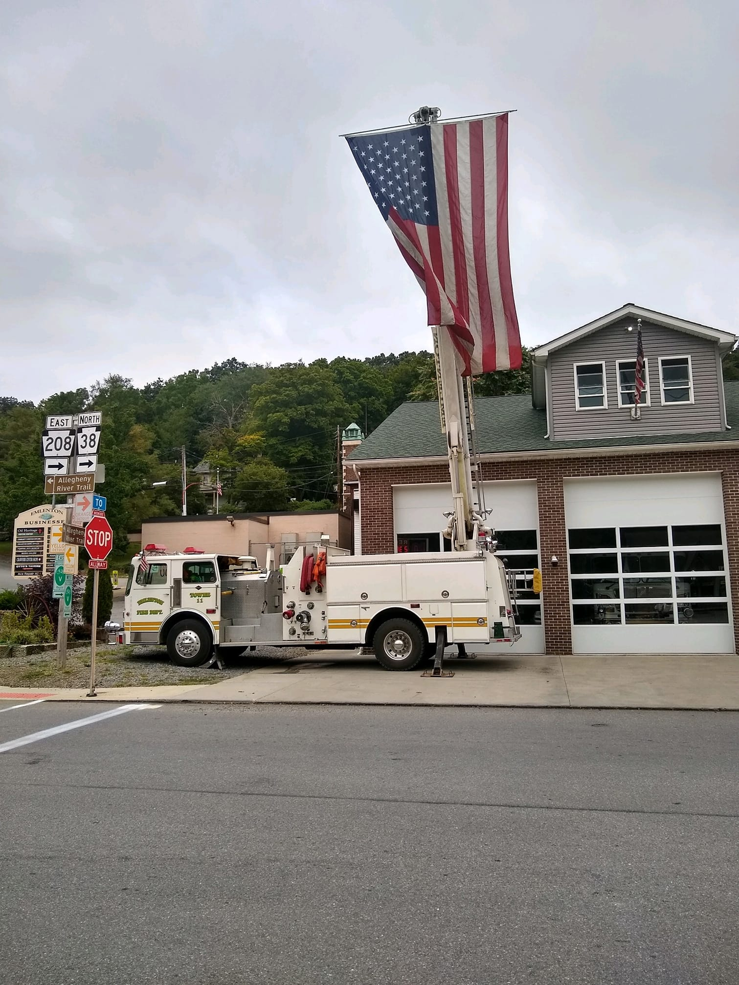 """""""Never forget."""" Courtesy of Emlenton Fire Department."""