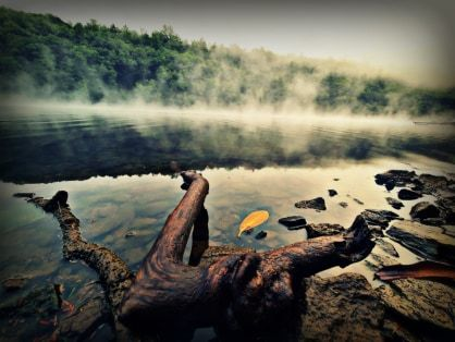Fog rolling down the Clarion River. Submitted by Steph Beichner.