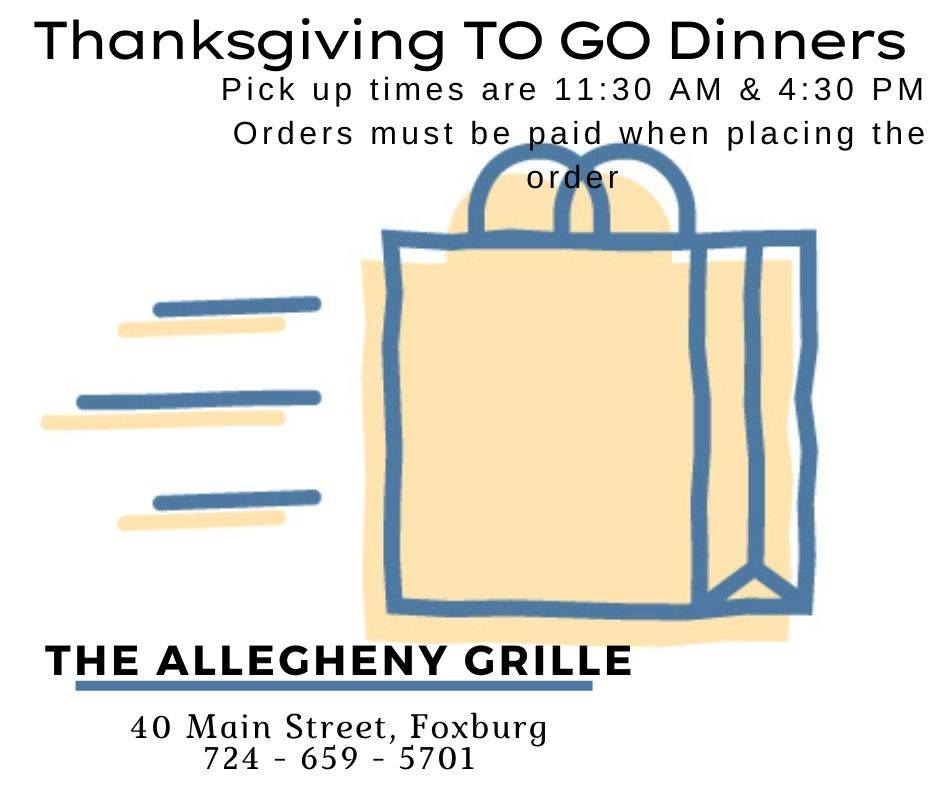 Allegheny grille takeout orders