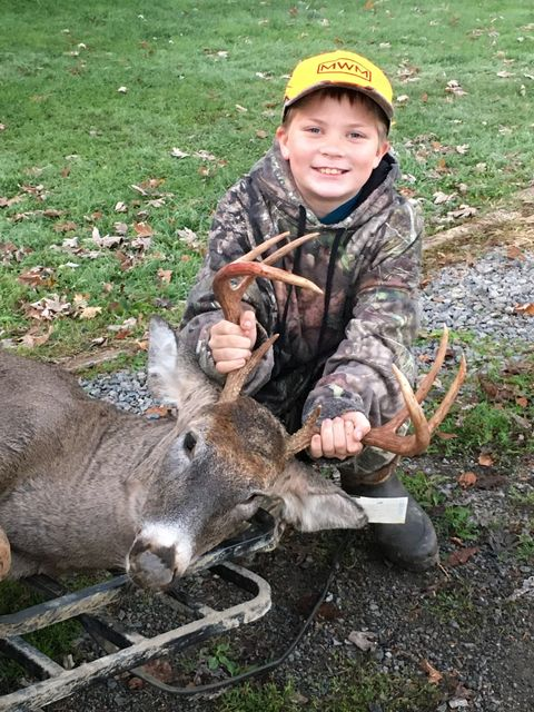 10 year old Weston Lawrence harvested this 8 point buck with a crossbow on Friday. Submitted by his mother, Amanda Marie.