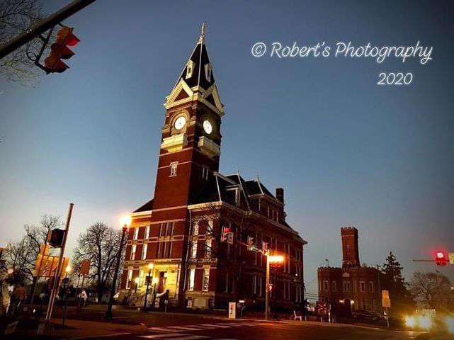 Calm surrounding the courthouse. Submitted by Robbie Hawk.