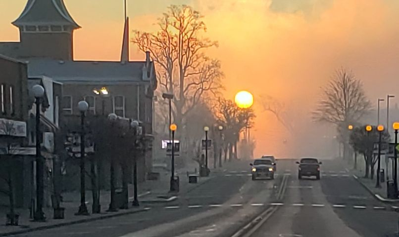 Sunrise over Clarion Saturday morning. Submitted by Staci Mae Hannold.