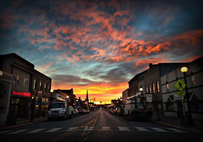 A colorful Thursday sunrise over Clarion. Submitted by Steph Beichner.