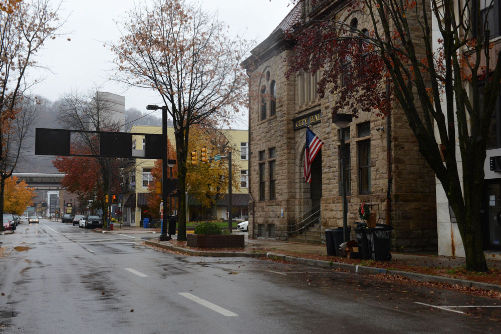 Johnstown City Hall on Main Street in downtown Johnstown on Nov. 11, 2020. Photo credit: Jamie Martines / Spotlight PA.