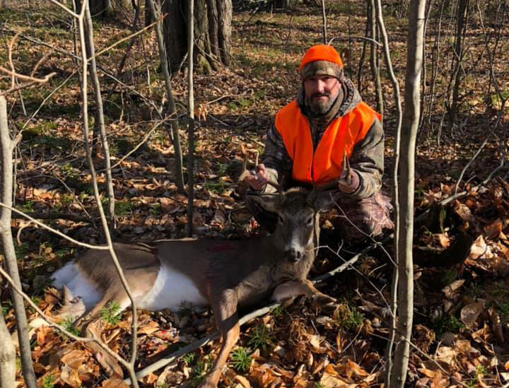 Tony Bale and his eight point buck