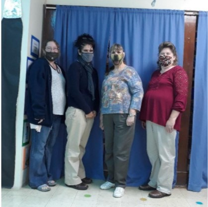 (A-C Valley Head Start Staff pictured from left to right: Frankie Planker, Kathryn Yeager-Ellis, Ruth Shultz, and Carol Miller)