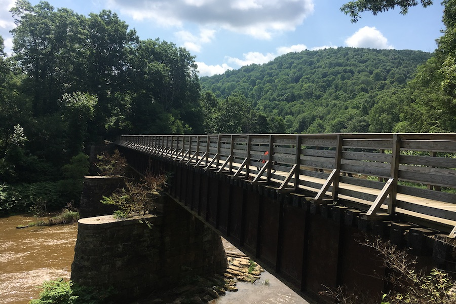 Historical railroad bridge over the Redbank Creek in Brookville, PA