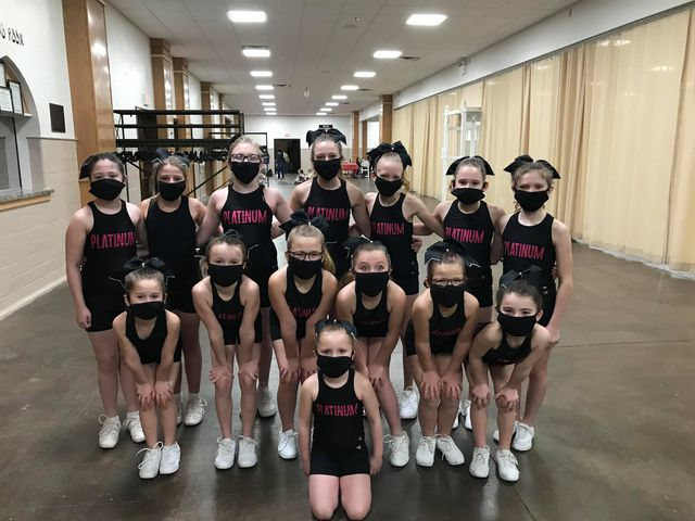 Coach Blondie Tumble and Cheer's Platinum squad from New Bethlehem got to attend their first IN PERSON competition in Altoona! The group brought home first place in their youth level 1 division! Submitted by Amber Kimmel.