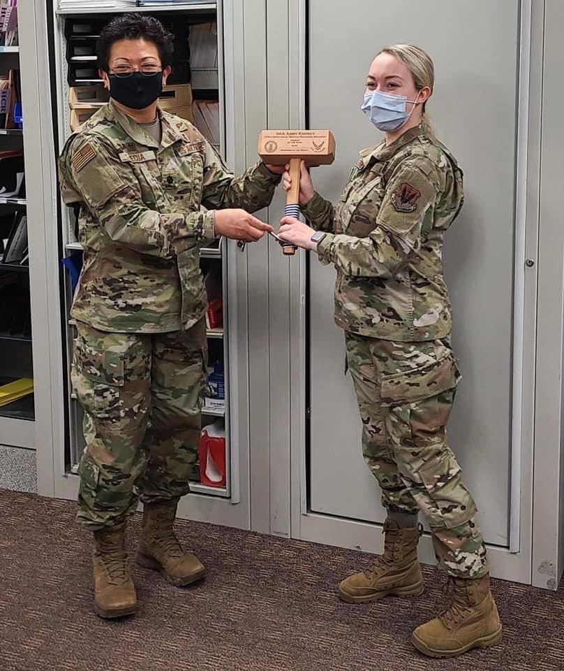 Knox native and Airman, Abby Kersey, received Airman of the Quarter and Airman of the year! Courtesy of Lori Kersey.