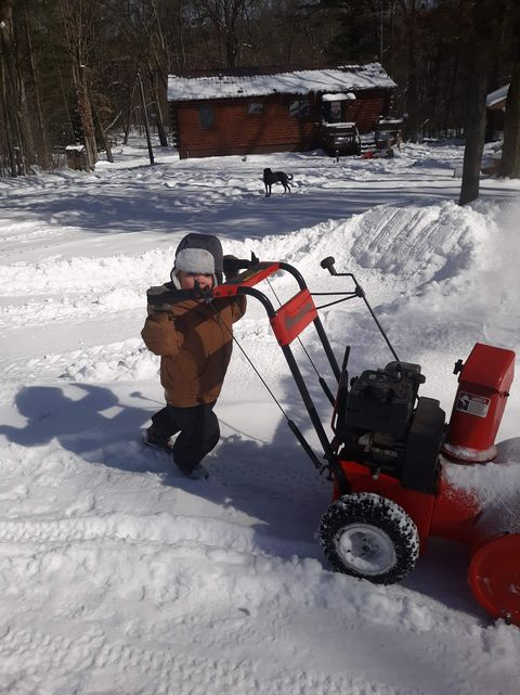 Kason running snowblower for Papa in Knox. Submitted by Tracy Wilson Cheke.