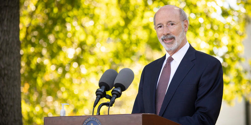 Governor-Wolf-speaking-otuside-looking-to-his-left