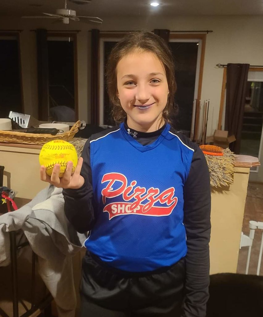 10-year-old Maylin Weiser recently hit her first softball home run! Maylin is the daughter of Eric and Leslie Rowland of Knox.