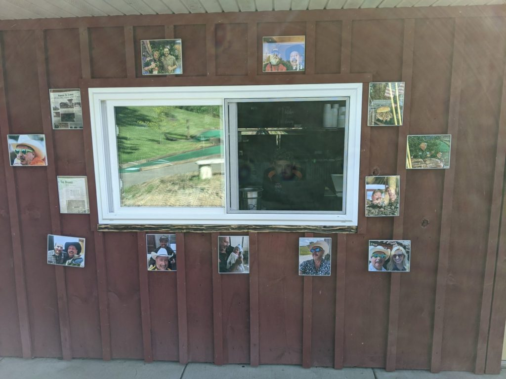 The window at the Bedrock location. The window faces the putt-putt golf course.