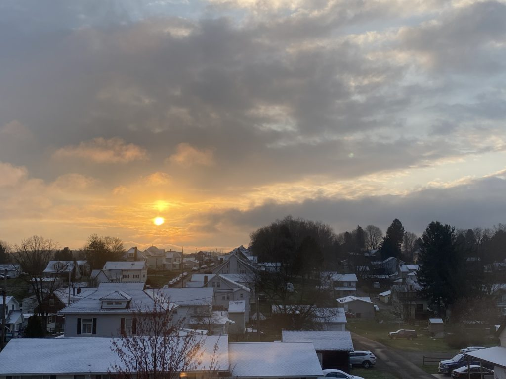 Sunrise over Knox.  Submitted by Casey Mullooly.