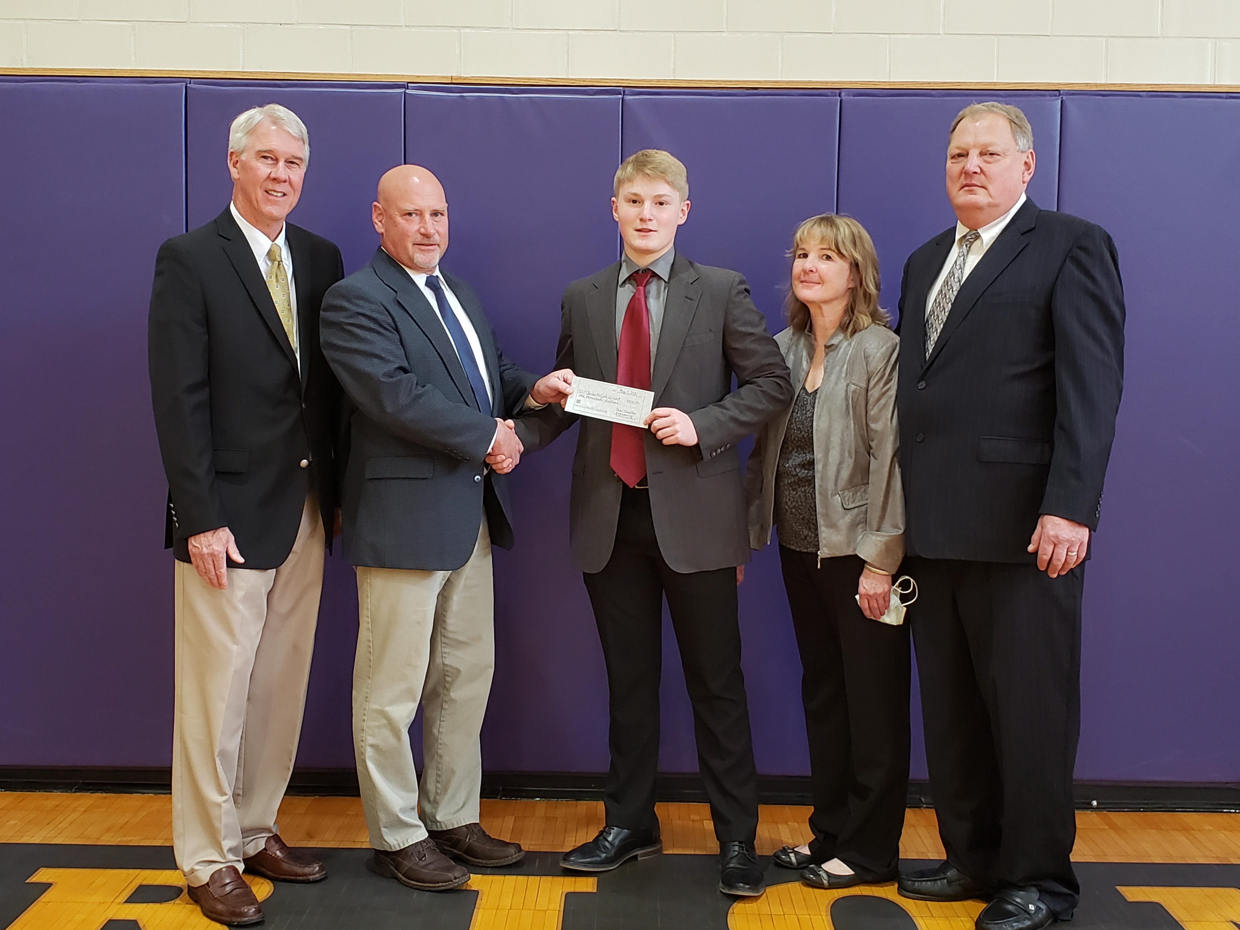 Jordan McCord-Wolbert, a senior at North Clarion, was recently awarded a scholarship from the National Football Foundation for his outstanding achievements in scholarship, leadership, and the sport of football.