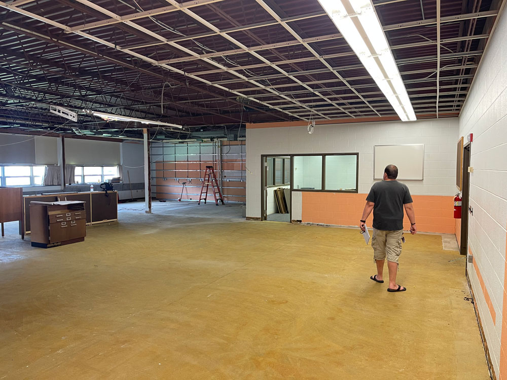 Renovations underway at the North Clarion High School Library.