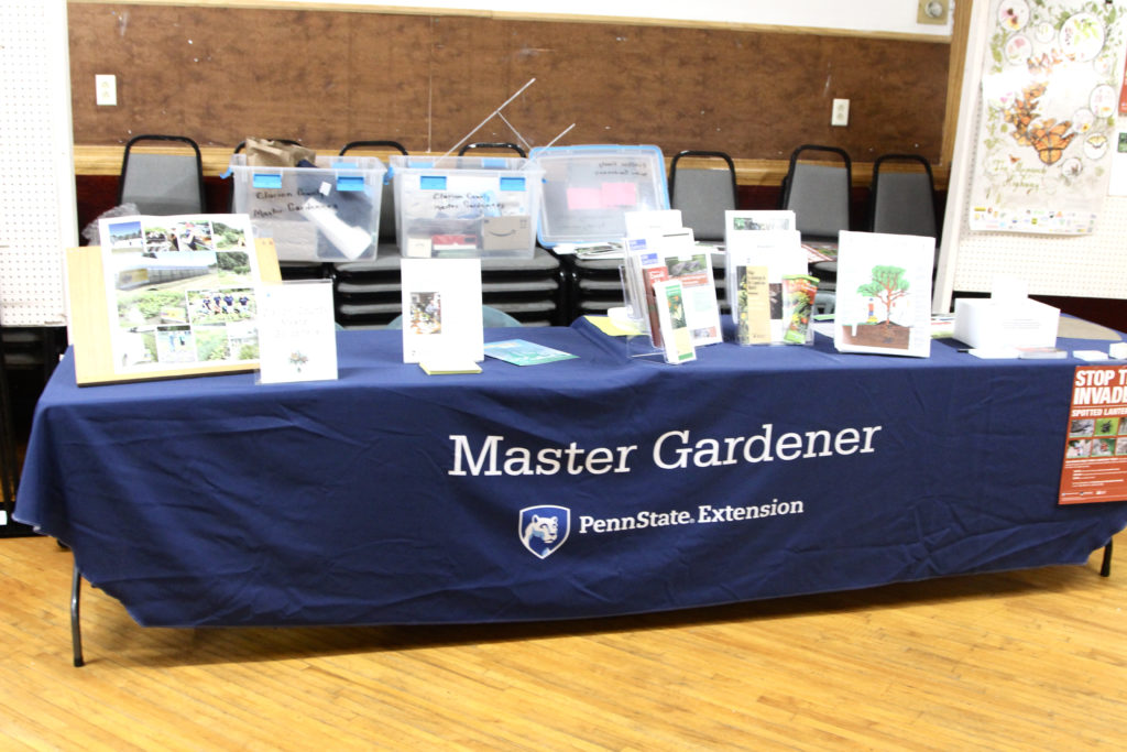 Information tables were also prepared for visitors during the week by community groups such as the Clarion County Master Gardeners.