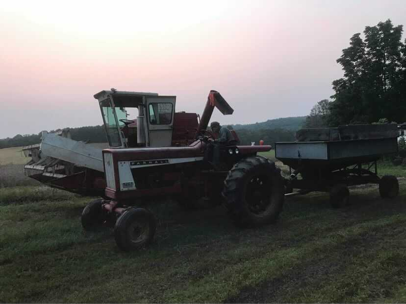 Farming equipment sits idle in a field as it awaits it's next job. Photo submitted by John Frederick.
