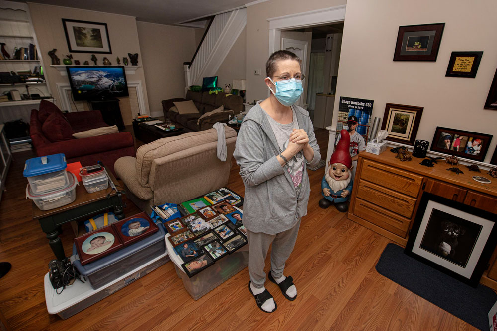 Even if Stacey Horrocks gets rental assistance money in time and pays her landlord the more than $18,000 she owes, she could still be evicted for staying past the end of her lease. Photo credit: Jose F. Moreno/Philadelphia Inquirer.