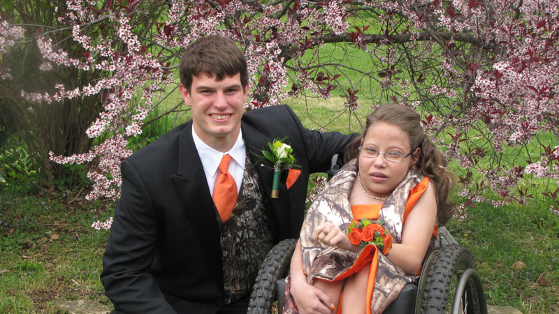 Jeremy Schmader was  Arianna Evans' for the senior prom.