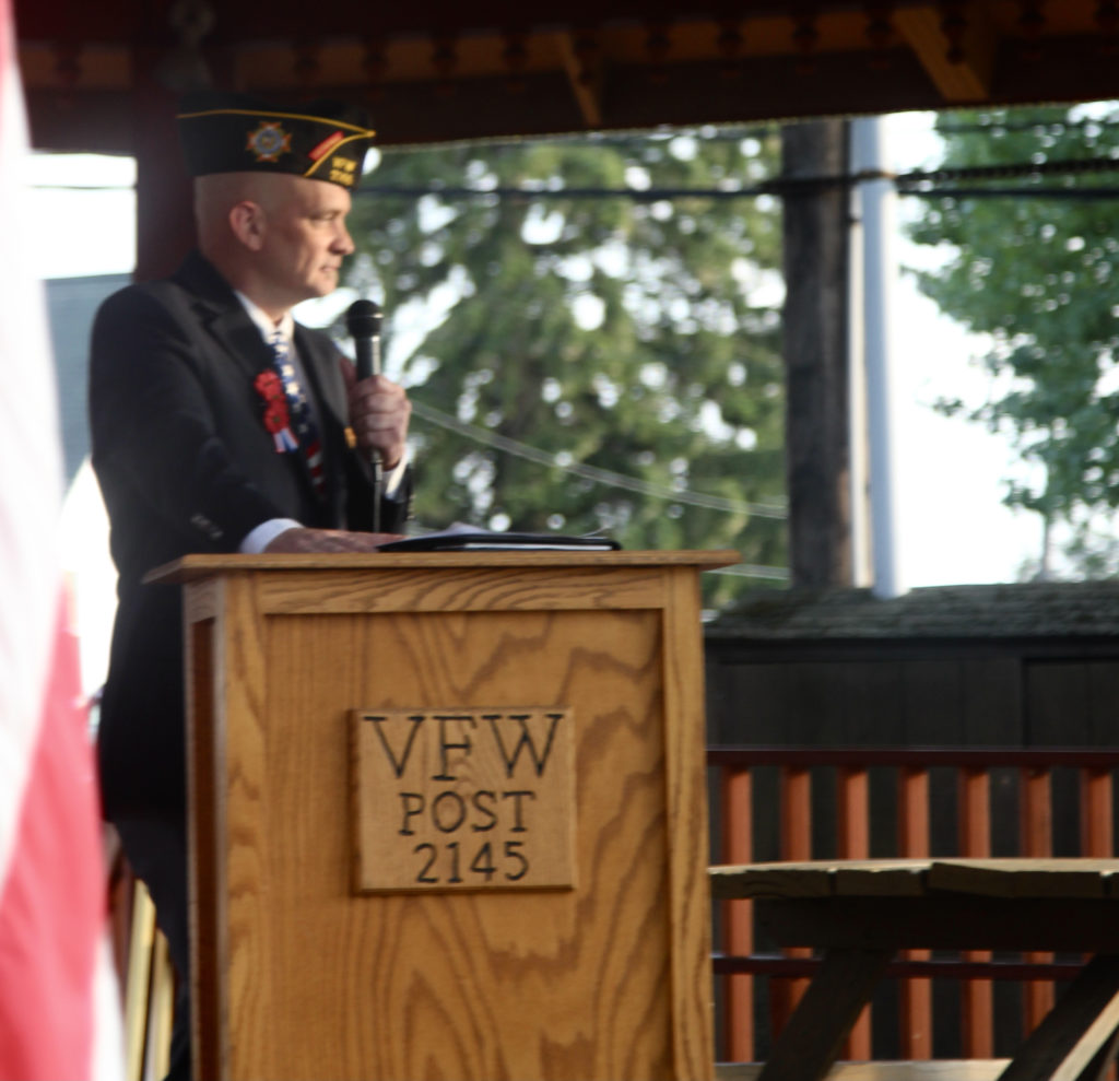 Chad Matthews, Commander of the Spec. Ross A. McGinnis VFW Post 2145, has no problem remembering 911.