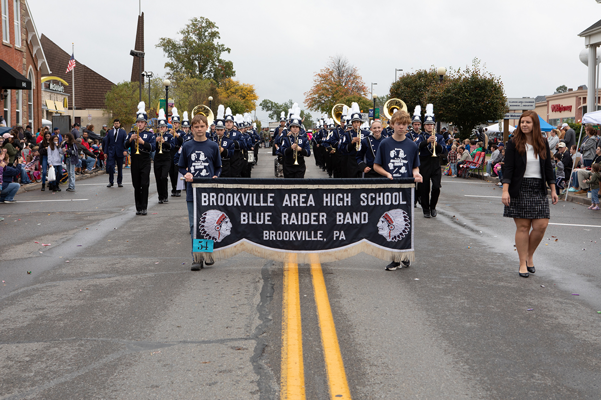 Class AAA Drum Major Award Winner Brookville High School. Photo by Dave Cyphert of ProPoint Media Photography.