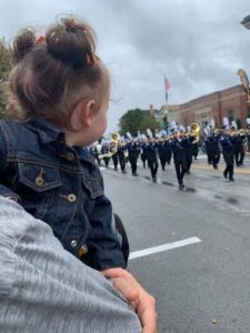 Makenna Snyder watching her first ALF parade! Submitted by Jess Snyder.
