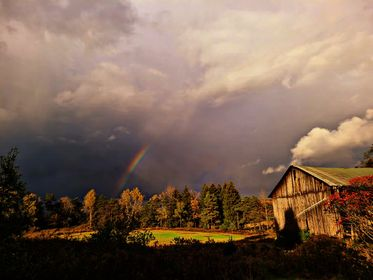 Partial rainbow on Saturday afternoon. Submitted by Steph Beichner.