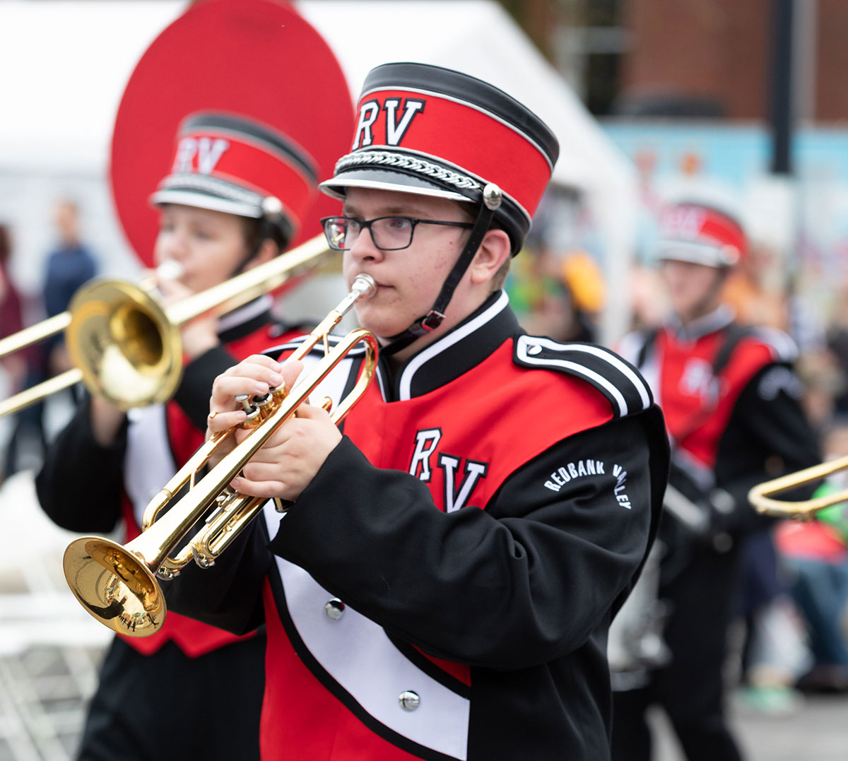 Class A Marching Band 1st Place Winner Redbank Valley. Photo by Dave Cyphert of ProPoint Media Photography.