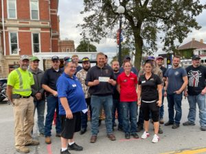 Clarion Fire & Hose Company No. 1 was presented with a $1,500 check from Firehouse Subs. Firehouse Subs had a donation box at their truck during ALF with 100% of donations given to Clarion.