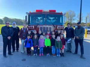 YMCA Younger Years 4/5 Preschool received a visit from Clarion Firefighters. Courtesy of YMCA Younger Years.