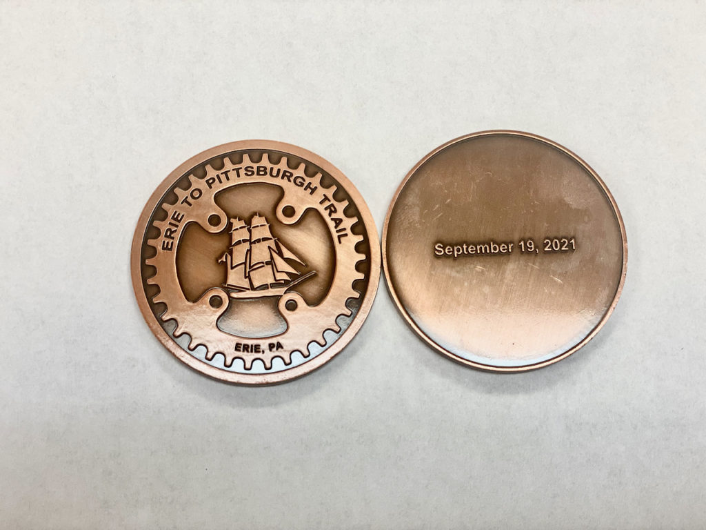 Clarion County Commissioners were awarded medallions for support of the East Brady Tunnel and the Erie to Pittsburgh Trail.
